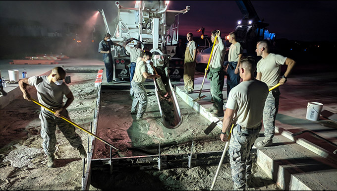 DIRT BOYS RESTORE TAXIWAY IN 23 HRS DESPITE RECORD HEAT