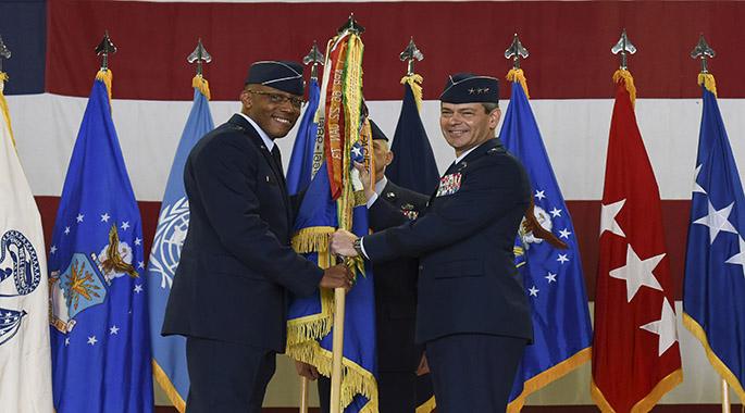 7 AF receives new commander during historic times